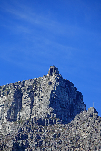 Aerial tramway「The cable-car station on Table Mountain, Cape Town.」:スマホ壁紙(4)