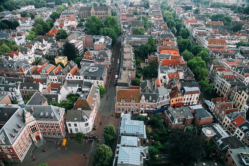 Utrecht「Utrecht city Netherlands aerial view cityscape」:スマホ壁紙(2)