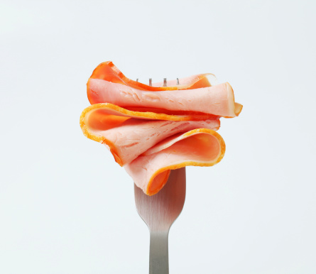 Ham「Slice of ham on a fork」:スマホ壁紙(0)