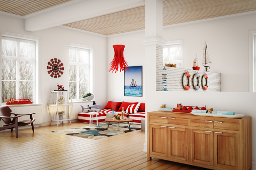 Sailboat「Cozy Nautical Themed Interior」:スマホ壁紙(19)