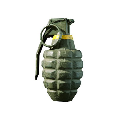 Military「Green hand grenade isolated on white background」:スマホ壁紙(16)