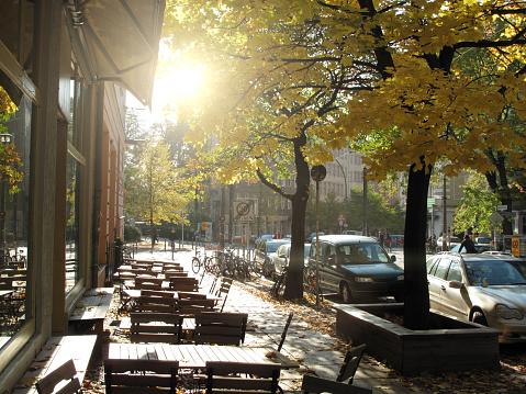 秋「Sidewalk cafe in Berlin Mitte」:スマホ壁紙(18)