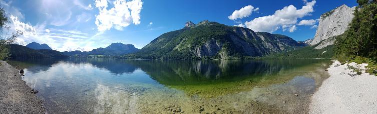 美しさ「夏のパノラマ、湖アルタウスゼー, オーストリア」:スマホ壁紙(12)
