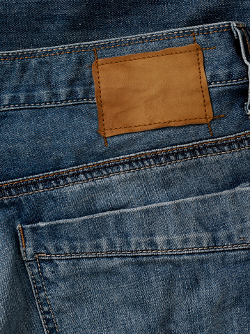 Mill「Blank leather jeans label sewed on a blue jeans.」:スマホ壁紙(3)
