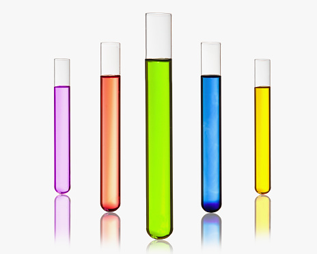 Laboratory Equipment「Beakers with colorful mixture」:スマホ壁紙(2)
