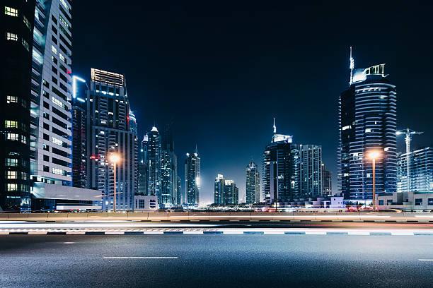 Dubai night skyline:スマホ壁紙(壁紙.com)