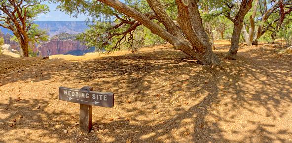 Kaibab National Forest「Wedding Site sign, Cape Royal, North Rim, Kaibab National Forest, Grand Canyon, Arizona, USA」:スマホ壁紙(16)