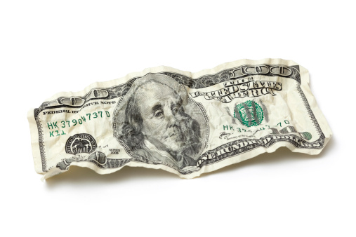 US Currency「Crumpled Hundred Dollar Bill」:スマホ壁紙(18)