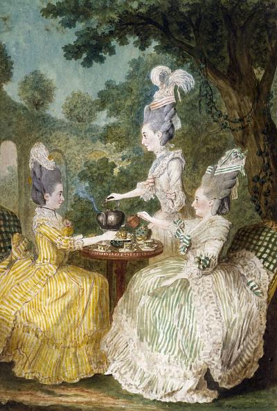 Tea Cup「Marquise De Montesson Marquise Du Crest And Comtesse De Damas Drinking Tea In Garden 1773」:写真・画像(7)[壁紙.com]
