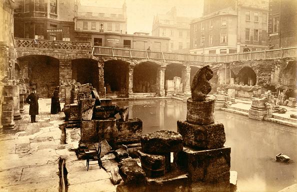 Bathhouse「The Roman Baths Bath 19th Century」:写真・画像(17)[壁紙.com]