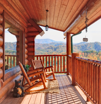 Great Smoky Mountains National Park「Log Cabin with a View of the Smoky Mountains」:スマホ壁紙(11)