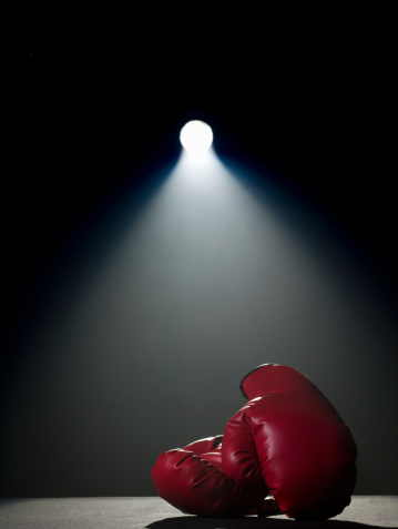 Boxing - Sport「Boxing gloves in spotlight」:スマホ壁紙(4)