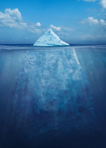 Water Surface「Floating iceberg, showing its size under water」:スマホ壁紙(14)