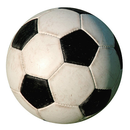 Sports Equipment「Football - Used Isolated old-style soccer ball on white background」:スマホ壁紙(15)