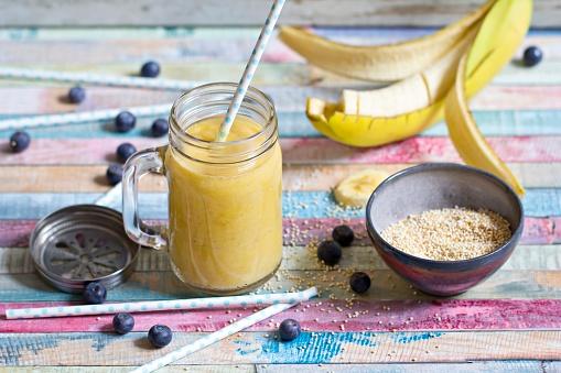 Mash - Food State「Glass of banana mango smoothie」:スマホ壁紙(10)