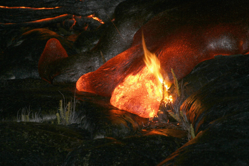 Basalt「October 25, 2004 - Kilauea Pahoehoe lava flow, Big Island, Hawaii.」:スマホ壁紙(9)