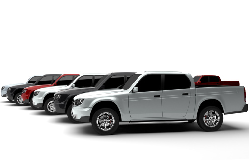 Car Dealership「New pick up trucks multicolored」:スマホ壁紙(4)