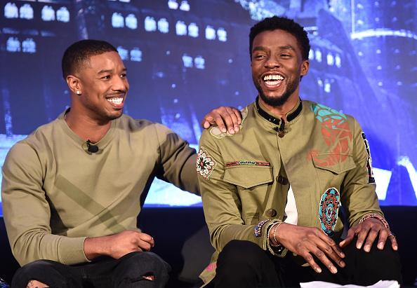 Michael Jordan「Marvel Studios' BLACK PANTHER Global Junket Press Conference」:写真・画像(4)[壁紙.com]
