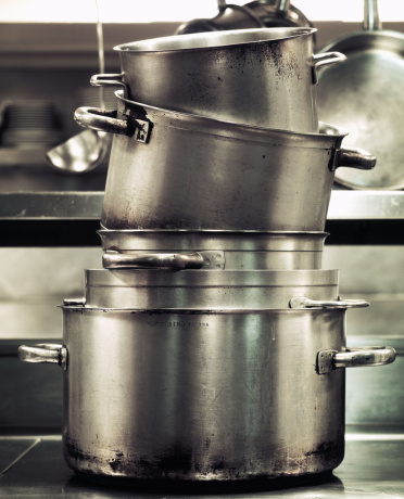 Preparing Food「Stack of stock pots」:スマホ壁紙(2)