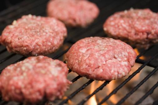 Carnivora「Hamburger patties cooking on grill」:スマホ壁紙(7)