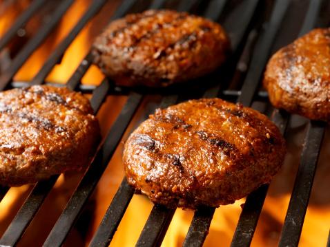 Barbecue Grill「Hamburger Patties on the BBQ」:スマホ壁紙(19)