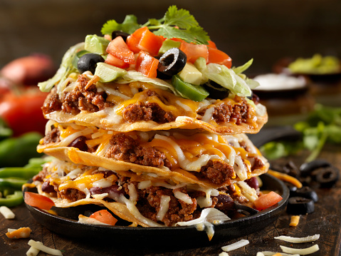 Toasted Food「Chilli Cheese Tostada Tower」:スマホ壁紙(14)