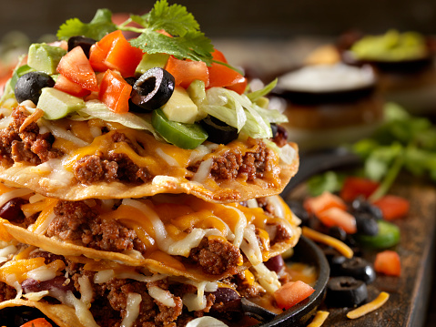 Pub Food「Chilli Cheese Tostada Tower」:スマホ壁紙(4)