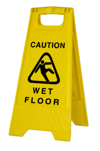 Wet「Yellow caution wet floor sign on white background」:スマホ壁紙(11)