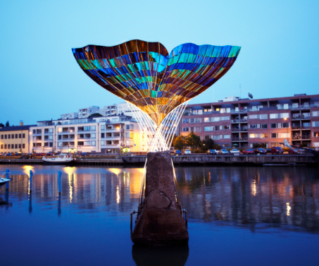 Finland「Fountain sculpture in Turku」:スマホ壁紙(8)