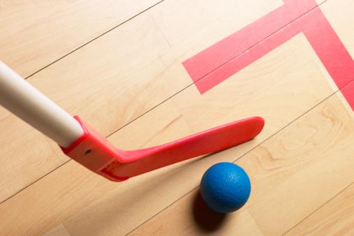 Field Hockey「Field hockey stick and ball in gym」:スマホ壁紙(6)