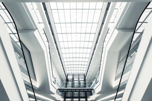 Escalator「Modern shopping mall escalators」:スマホ壁紙(17)