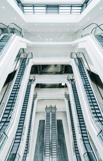 Escalator「モダンなショッピングモールエスカレーター」:スマホ壁紙(19)