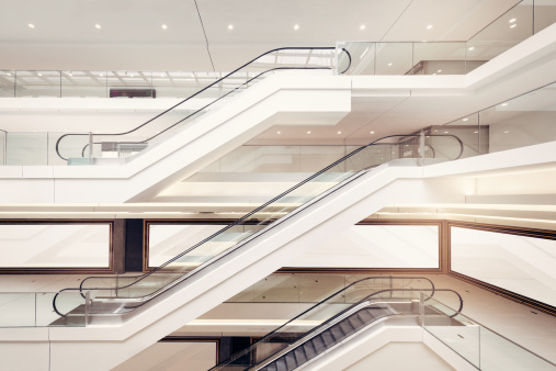 Escalator「Modern shopping mall escalators」:スマホ壁紙(2)