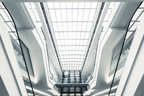 Escalator「Modern shopping mall escalators」:スマホ壁紙(16)