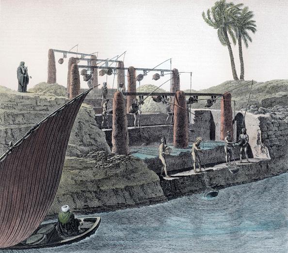 自然・風景「Collecting Water From The Nile Egypt circa 1798」:写真・画像(14)[壁紙.com]