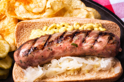 Hot Dog「Bratwurst with Mustard and Saurkraut」:スマホ壁紙(15)