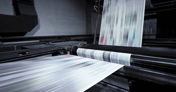 Newspaper printing in press:スマホ壁紙(壁紙.com)