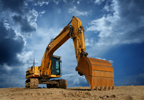 Earth Mover「Yellow Excavator at Construction Site」:スマホ壁紙(15)