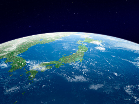 Planet Earth「Earth from space, Japan」:スマホ壁紙(2)