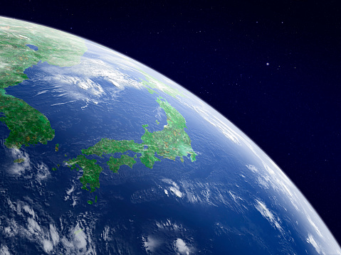 Planet Earth「Earth from space, Japan」:スマホ壁紙(17)