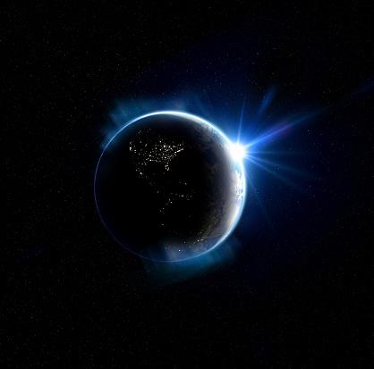 キラキラ「Earth from Space」:スマホ壁紙(7)