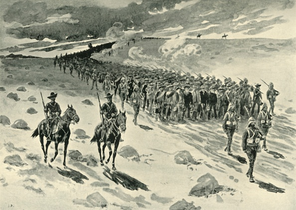 Surrendering「After Paardeberg: Boer Prisoners On The March」:写真・画像(17)[壁紙.com]