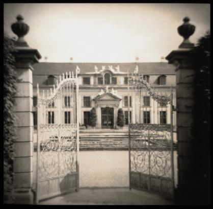 Sepia Toned「Gate at Herrenhausen Castle, Hannover, Germany」:スマホ壁紙(18)