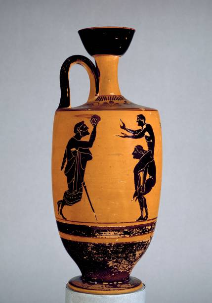 Athenian Black-Figure Lekythos Depciting Ball Game:ニュース(壁紙.com)