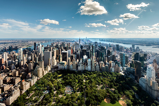 Financial District「Aerial of NYC over Central Park」:スマホ壁紙(14)