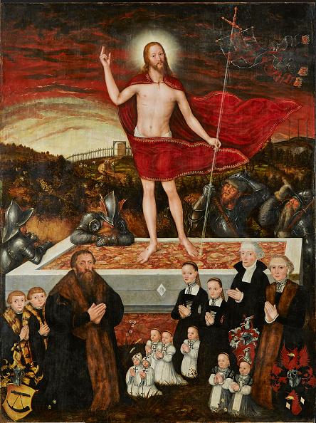 イースター「The Resurrection Of Christ With Donors (Epitaph For The Badehorn Family) 1554」:写真・画像(1)[壁紙.com]