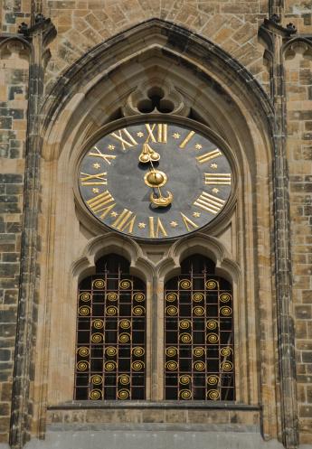 St Vitus's Cathedral「Clock of Saint Vitus Cathedral in Prague」:スマホ壁紙(0)