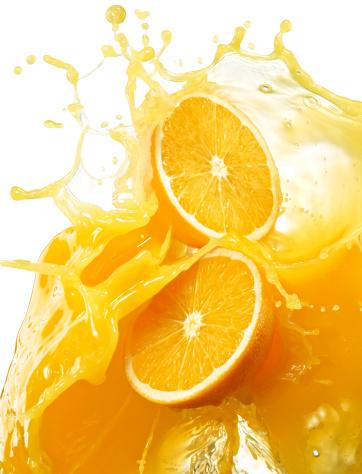 Juice - Drink「Oranges with splashing orange juice.」:スマホ壁紙(18)