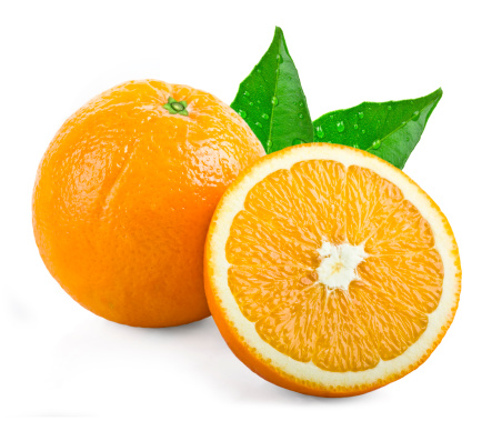 Orange - Fruit「Oranges with leafs」:スマホ壁紙(1)
