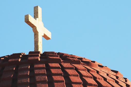 パトモス島「cross at a top of a dome」:スマホ壁紙(16)